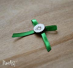 Pierka - Svadobné pierka zelené, vlnkovaný krúžok - 10407659_