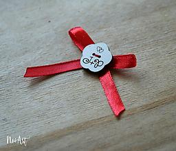 Pierka - Svadobné pierka červené, kvetinka - 10407708_