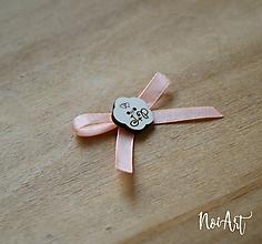 Pierka - Svadobné pierka marhulkové, kvetinka - 10407783_