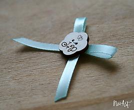 Pierka - Svadobné pierka mint, kvetinka - 10407792_