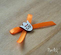 Pierka - Svadobné pierka oranžové, tulipán - 10407810_