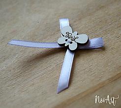Pierka - Svadobné pierka bledofialová, motýlik - 10407828_