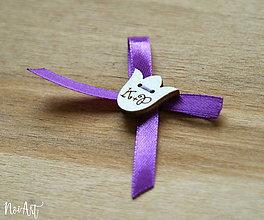 Pierka - Svadobné pierka stredne fialová, tulipán - 10407858_