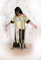 Šaty - lel,plus size maxišaty letné - 10406400_