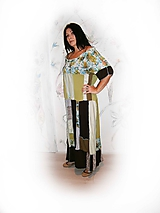 Šaty - lel,plus size maxišaty letné - 10406404_