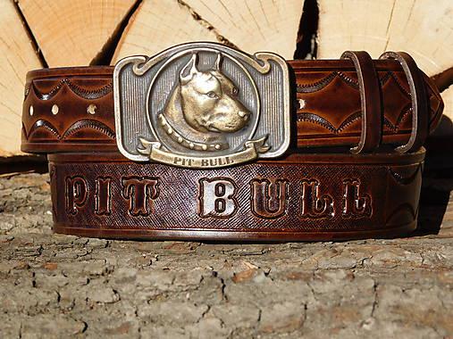 kožený opasok 4 cm - Pit Bull