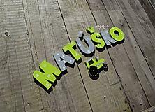 Detské doplnky - 7cm písmenká Matúško - 10407182_