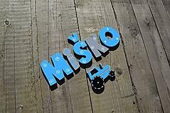 Tabuľky - 7cm písmenká Miško - 10407190_