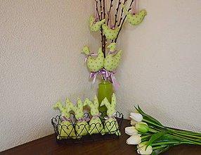 Dekorácie - Veľkonočná zelená guličková sada - 10406253_