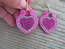 Náušnice - Valentínska kolekcia...soutache - 10408974_