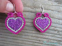 Náušnice - Valentínska kolekcia...soutache - 10409023_