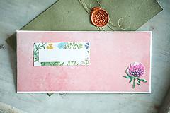 Papiernictvo - Obálka s pohľadnicou - na peniaze - 10407984_