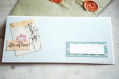 Papiernictvo - Obálka s pohľadnicou - na peniaze - 10408020_