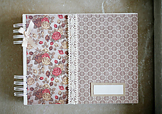 Papiernictvo - Scrapbook kniha hostí / fotoalbum - 10408670_