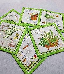 Úžitkový textil - Podšálky  do záhradky, cena za 1ks - 10409959_
