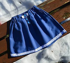 Detské oblečenie - Dievčenská riflová suknička - 10409644_