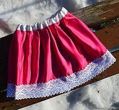 Detské oblečenie - RUŽOVÁ SUKŇA PRE DIEVČATÁ - 10409702_