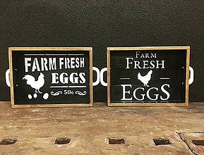 """Nádoby - Podnos """"Farm fresh"""" - 10408855_"""