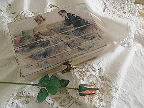Krabičky - Romantická vintage šperkovnica. - 10407477_