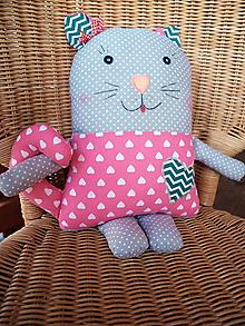 Textil - vankúšik - mačička - 10408525_