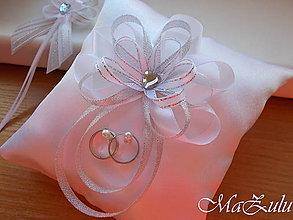 Prstene - svadobný vankúšik pod obrúčky - 10407717_