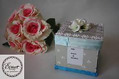 Papiernictvo - Krabička na peniaze - svadba - 10407463_