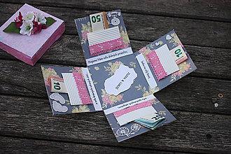 Papiernictvo - Krabička na peniaze - darčeková - 10407314_