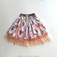 Detské oblečenie - Suknička jednorožková - losos 98/110 - 10408787_