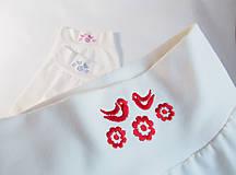 Detské oblečenie - Polodupačky s výšivkou (68 - Červená) - 10409255_
