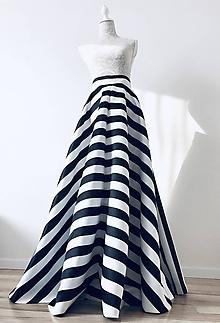 Sukne - Saténová pásikavá sukňa - 10408808_