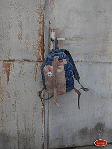 Batohy - unisex sešívaný batoh s kulatým dnem, zerowaste 3 - 10409126_