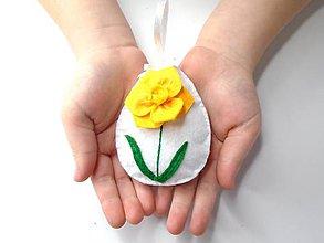 Dekorácie - Veľkonočná dekorácia (Narcis) - 10406193_