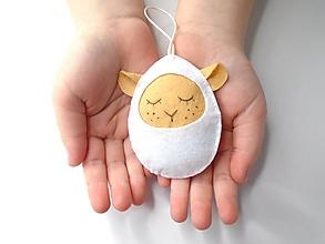 Dekorácie - Vajíčko alebo ... (ovečka) - 10406482_