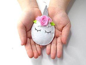 Dekorácie - Vajíčko alebo ... (jednorožec) - 10406541_