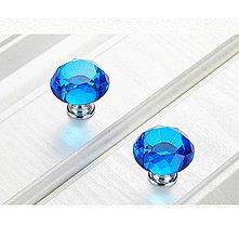 Komponenty - Úchytka krištáľ - modrá - 10406797_