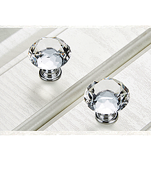 Komponenty - Úchytka krištáľ - číra - 10409969_