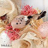 Dekorácie - Veniec s vtáčikmi - 10408973_