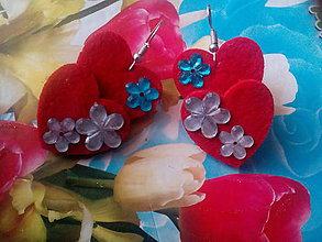 Náušnice - Náušnice dvojité srdiecko - 10406319_