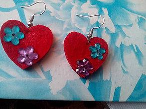 Náušnice - valentínske náušnice - 10406461_