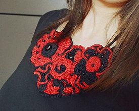 Náhrdelníky - Háčkovaný náhrdelník Carmen - 10407554_