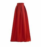 Sukne - Maxi saténová sukňa s vreckami - 10408544_