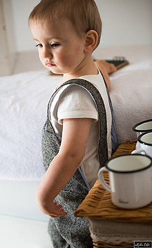 Detské oblečenie - Trakove nohavice - 10408677_