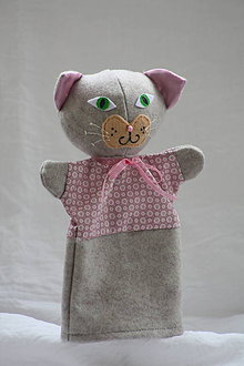 Hračky - Maňuška. Zvieratko Mačička Filoména. - 10409884_