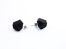 Náušnice - Náušnice krystal black - 10409395_