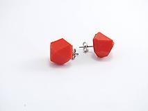 Náušnice - Náušnice krystal traffic red - 10409428_