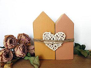 Dekorácie - Zaľúbené domčeky - 10407100_