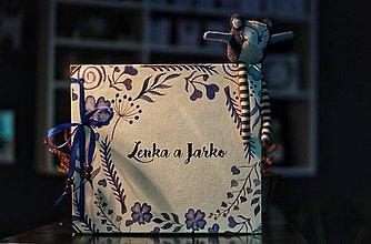 Papiernictvo - Fotoalbum klasický, papierový obal so štruktúrou plátna a ľubovoľnou potlačou (Fotoalbum klasický, papierový obal so štruktúrou plátna a  potlačou ,,folkového,, rámčeka) - 10407188_