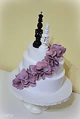 Dekorácie - Kráľ a kráľovná II. - šachové figúrky na svadobnú tortu - 10409084_