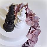 Dekorácie - Kráľ a kráľovná II. - šachové figúrky na svadobnú tortu - 10409087_