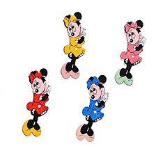 Galantéria - G157 Gombík drevený Minnie mouse 1,3 x 3,8 cm - 10409636_